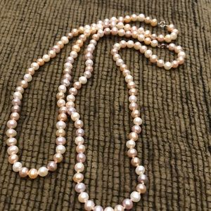 Pearl type necklace (#662,663)